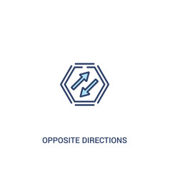 Opposite directions concept 2 colored icon simple vector