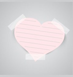 paper notes with sellotape vector image