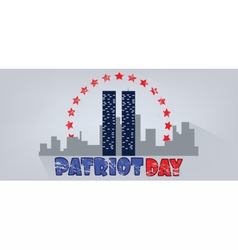 Patriot day with red stars vector