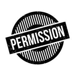 Permission rubber stamp vector