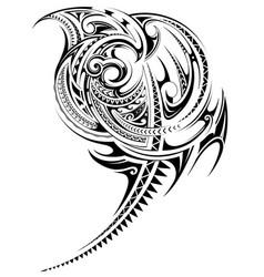 Polynesian style tribal art tattoo vector
