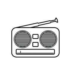 Radio music sound dj icon graphic vector