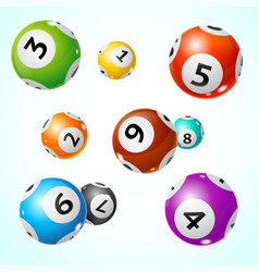 Realistic detailed 3d lotto ball concept card vector