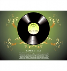 retro vinyl background vector image