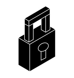 Safe secure padlock isometric icon vector