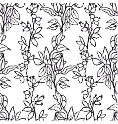 seamless pattern with hand drawn of vector image