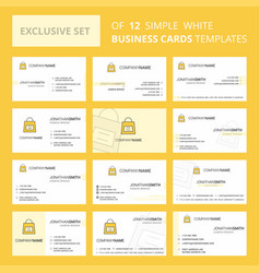 set of 12 shopping bag creative busienss card vector image