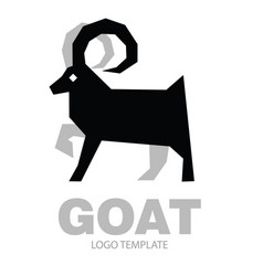 silhouette stylized drawing goat or nanny vector image
