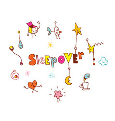 sleepover vector image