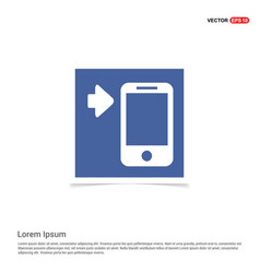 smartphone icon - blue photo frame vector image