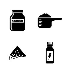 sports nutrition simple related icons vector image
