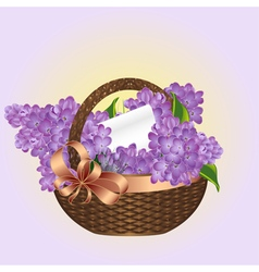 Spring bouquet of lilacs vector