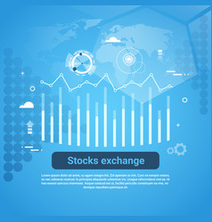 stock exchange concept business web banner with vector image