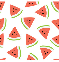 summer seamless pattern with watermelons vector image