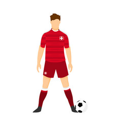 switzerland football uniform national team vector image