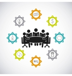teamwork business design vector image