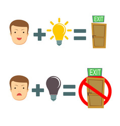 there is an idea there is a way out vector image