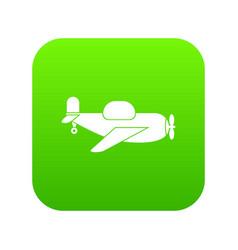 toy plane icon digital green vector image