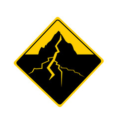 Traffic sign with earthquake vector