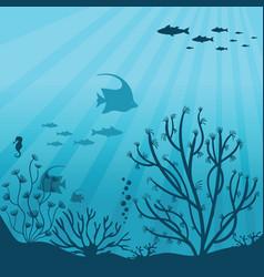 Underwater ocean underwater sea fauna vector