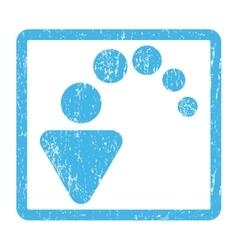 Undo Icon Rubber Stamp vector