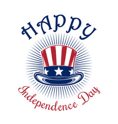 Us independence day logo design vector