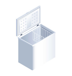 White freezer icon isometric style vector