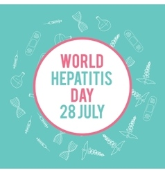 World hepatitis day Hand drawn medical vector
