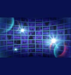 world tv show background news backdrop shine vector image