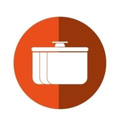 pot food element camping orange circle shadow vector image