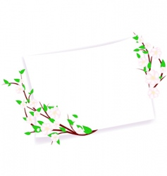 spring template vector image vector image