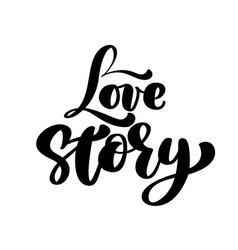 words love story inspirational isolated vector image vector image