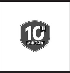 10th anniversary badge sign and emblem in vector image