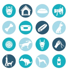 Dog icons white vector image