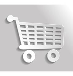 Icon shopping vector image vector image