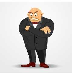 mafia boss with arms crossed vector image