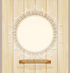 vintage background with a circle of lace vector image