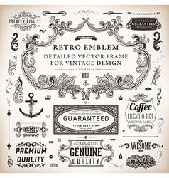 Vintage Labels Set vector image vector image