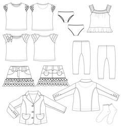 Womans set vector image