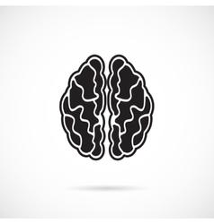 Brain Grey Icon vector image vector image