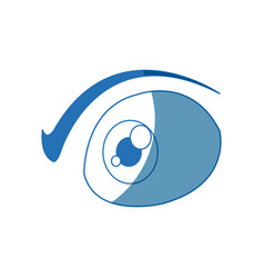 cartoon eye people vision look optic icon vector image
