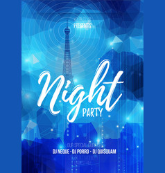 flyer template for night party Abstract vector image