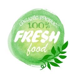 Fresh food organic label vector image