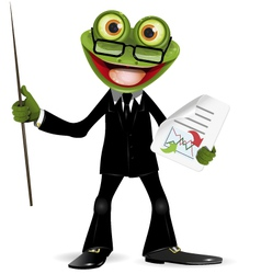 Frog in a suit vector image