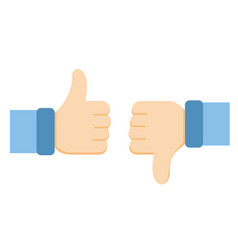 like and dislike icons vector image vector image
