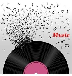 Retro music concept vector image