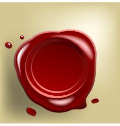 wax seal on paper vector image
