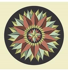 Yoga leaf mandala vector image vector image