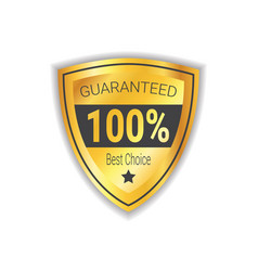best choice sticker golden shield guaranteed seal vector image