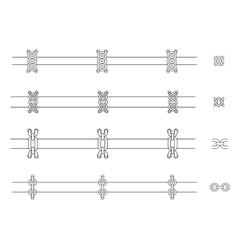 Chains web page dividers Contour lines vector image